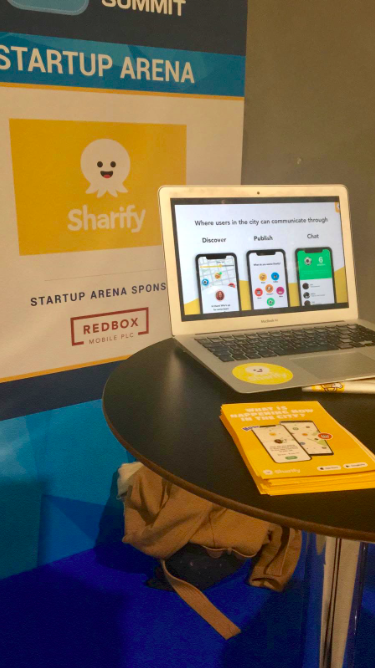 Startup stand at the Madrid Mobile Summit