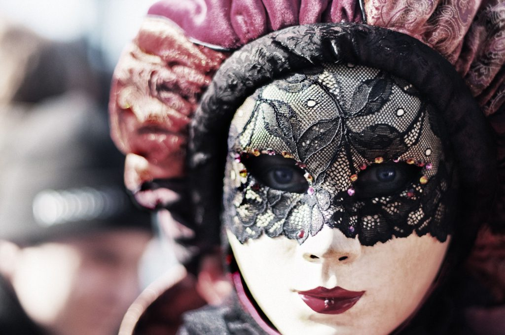 Carnival is a time to dress up, wear a mask, and be someone else for the night.
