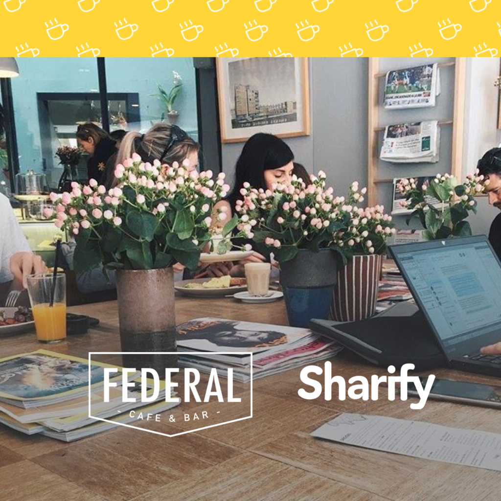 federal cafe with sharify app